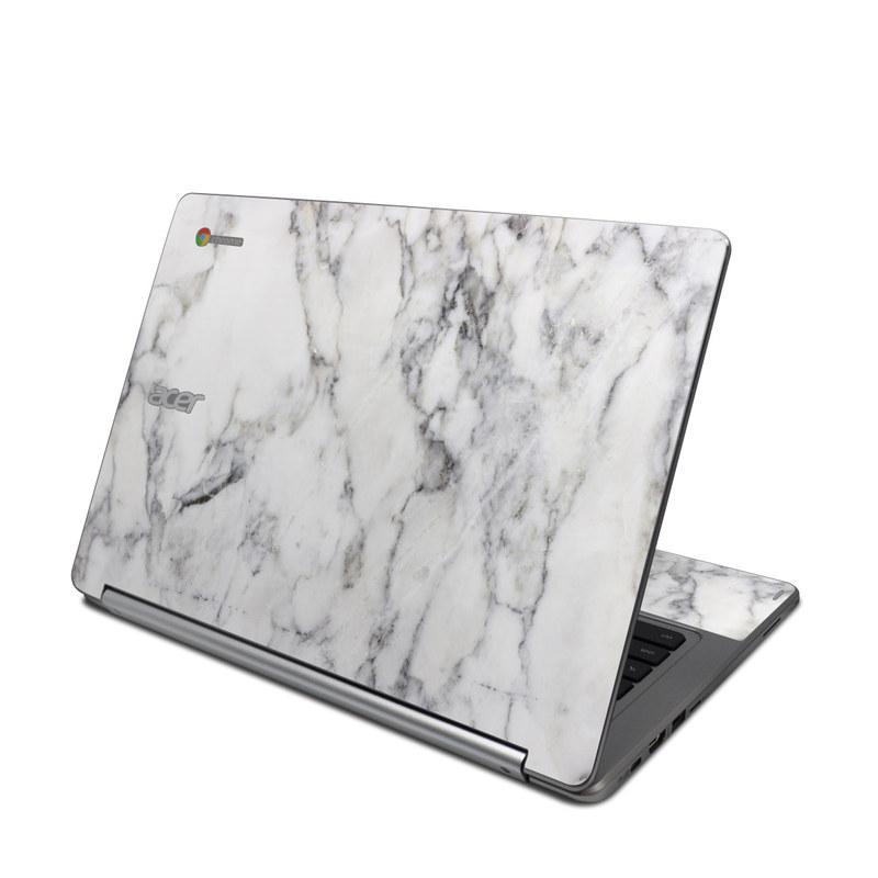 White Marble Acer Chromebook R 13 Skin