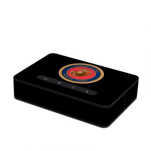 USMC Black Amazon Echo Connect Skin