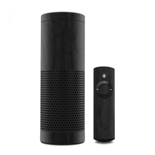 Black Woodgrain Amazon Echo 1st Gen Skin