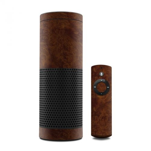 Dark Burlwood Amazon Echo Skin