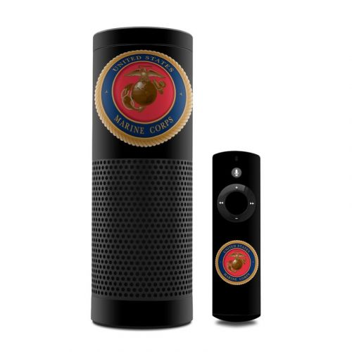 USMC Black Amazon Echo 1st Gen Skin