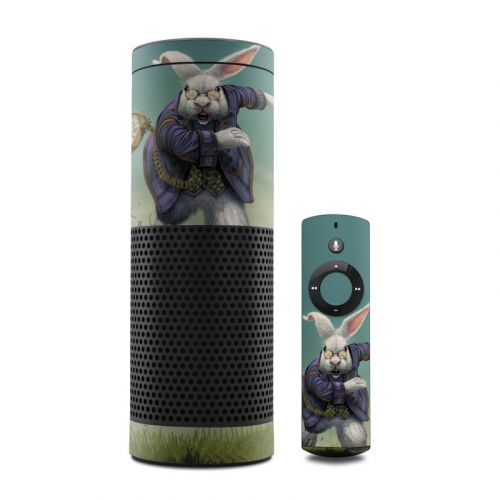 White Rabbit Amazon Echo Skin