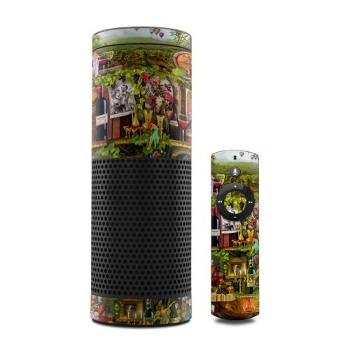 Wine Shelf Amazon Echo 1st Gen Skin