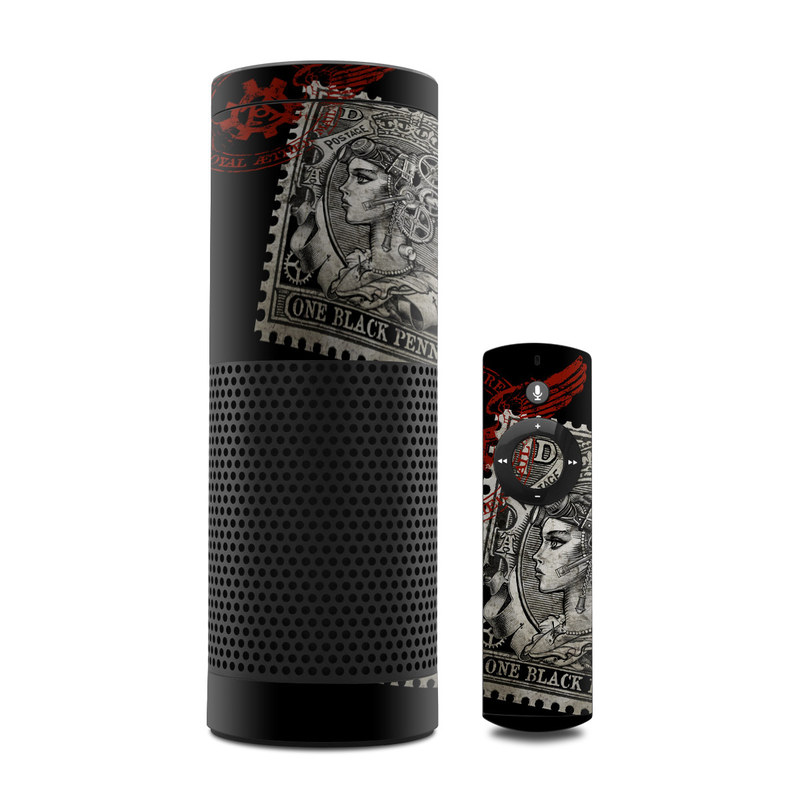 Black Penny Amazon Echo Skin