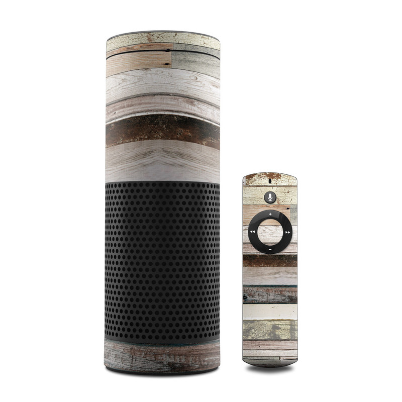 Eclectic Wood Amazon Echo 1st Gen Skin