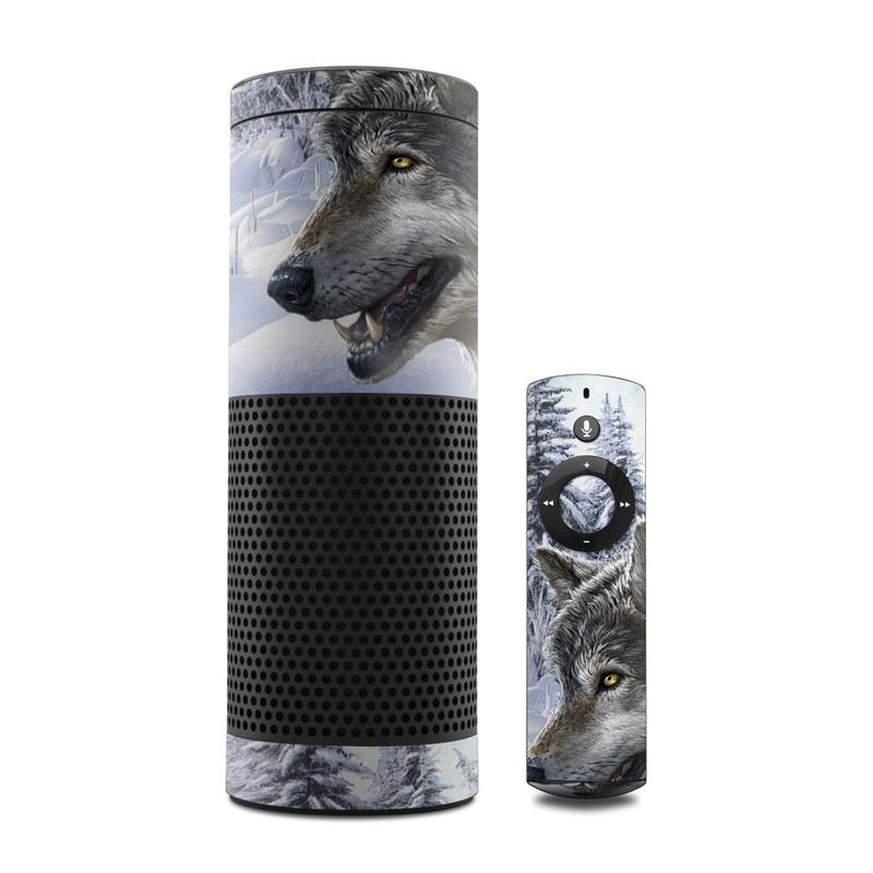 Snow Wolves Amazon Echo Skin