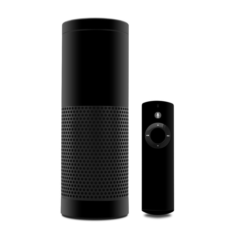 Solid State Black Amazon Echo 1st Gen Skin