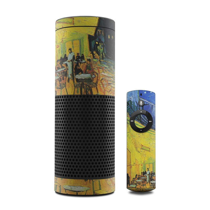 Cafe Terrace At Night Amazon Echo Skin