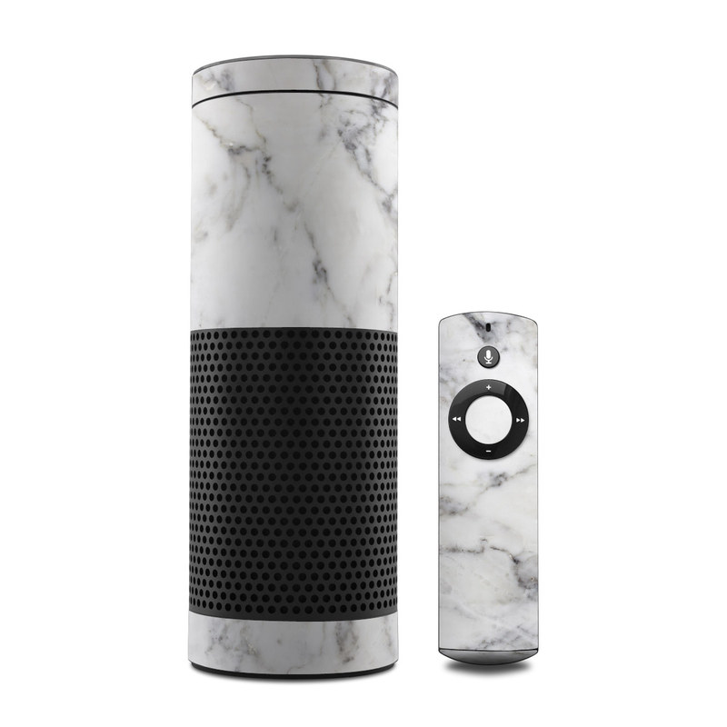White Marble Amazon Echo 1st Gen Skin
