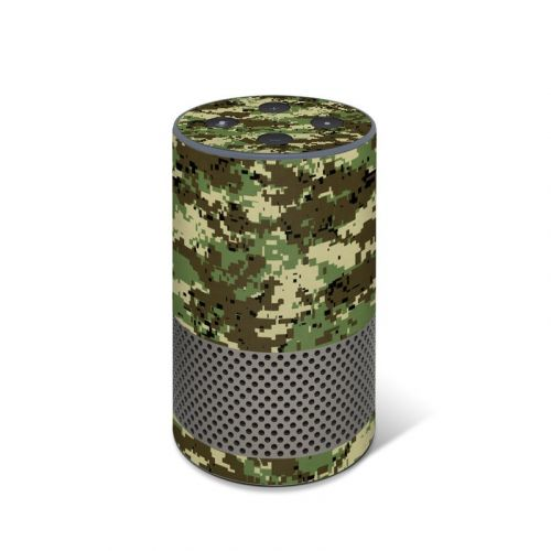 Digital Woodland Camo Amazon Echo 2nd Gen Skin