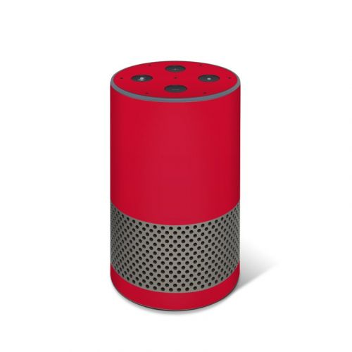 Solid State Red Amazon Echo 2nd Gen Skin