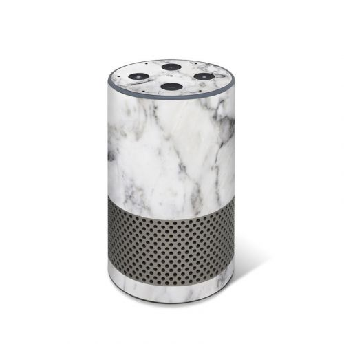 White Marble Amazon Echo 2nd Gen Skin