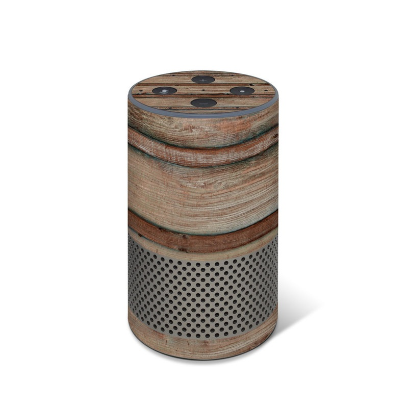 Boardwalk Wood Amazon Echo 2nd Gen Skin