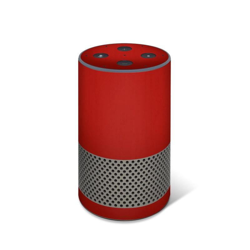 Amazon Echo 2nd Gen Skin design of Red, Maroon, Orange, Brown, Peach, Pattern, Magenta with red colors