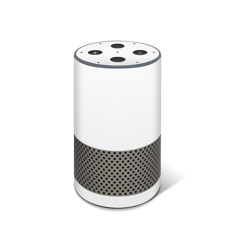 Amazon Echo 2nd Gen Skin design of White, Black, Line with white colors