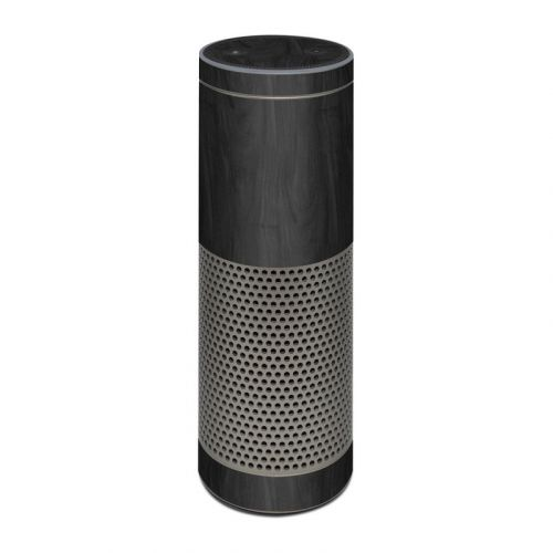 Black Woodgrain Amazon Echo Plus Skin