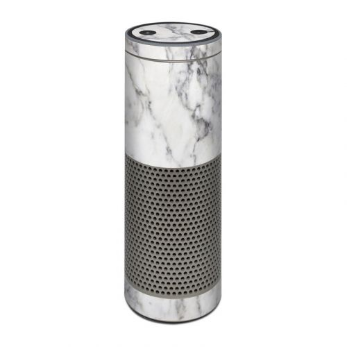 White Marble Amazon Echo Plus Skin