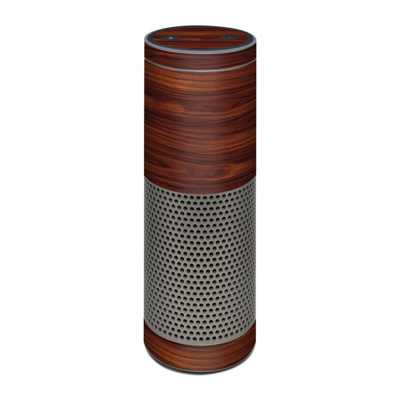 Amazon Echo Plus 1st Gen Skin design of Wood, Red, Brown, Hardwood, Wood flooring, Wood stain, Caramel color, Laminate flooring, Flooring, Varnish with black, red colors