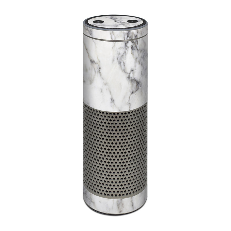 Amazon Echo Plus 1st Gen Skin design of White, Geological phenomenon, Marble, Black-and-white, Freezing with white, black, gray colors