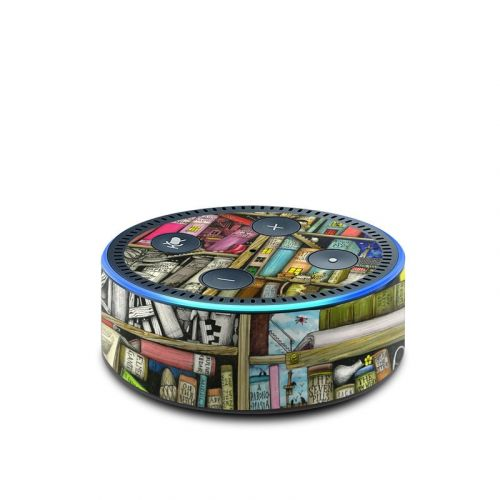 Bookshelf Amazon Echo Dot 2nd Gen Skin