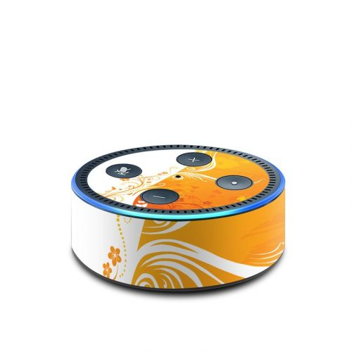 Orange Crush Amazon Echo Dot 2nd Gen Skin