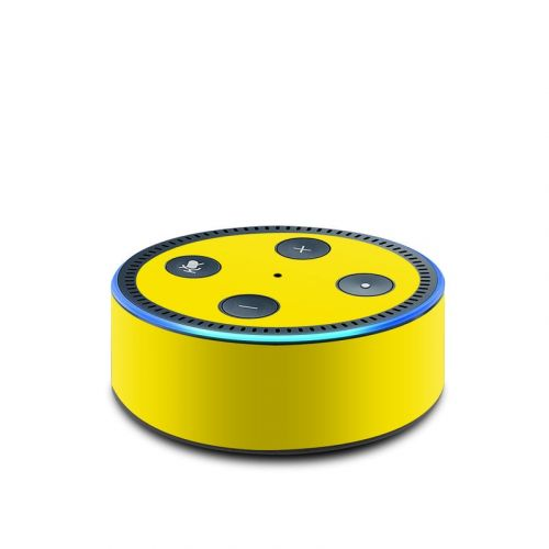 Solid State Yellow Amazon Echo Dot 2nd Gen Skin