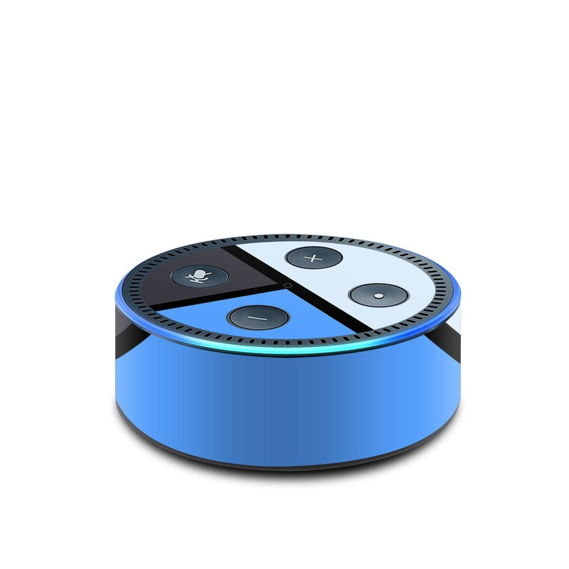 Amazon Echo Dot 2nd Gen Skin design of Blue, Line, Cobalt blue, Triangle, Azure, Electric blue, Parallel, Symmetry, Font with blue, gray, black colors