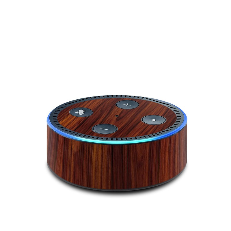 Dark Rosewood Amazon Echo Dot 2nd Gen Skin