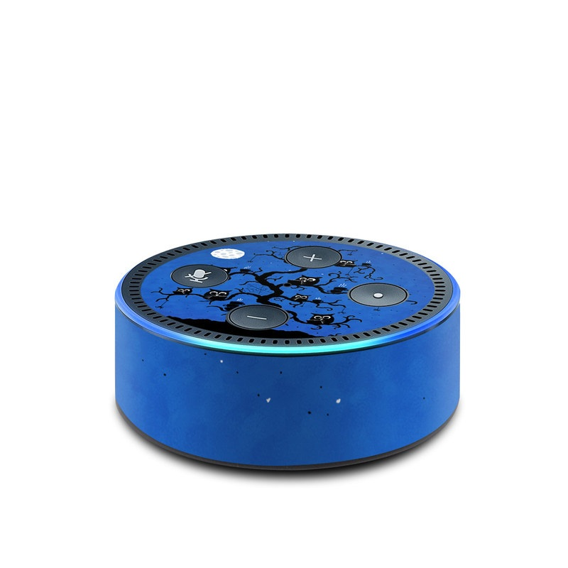 Amazon Echo Dot 2nd Gen Skin design of Illustration, Organism, Pattern with blue, black colors