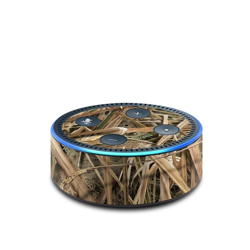 Amazon Echo Dot 2nd Gen Skin design of Grass, Straw, Plant, Grass family, Twig, Adaptation, Agriculture with black, green, gray, red colors