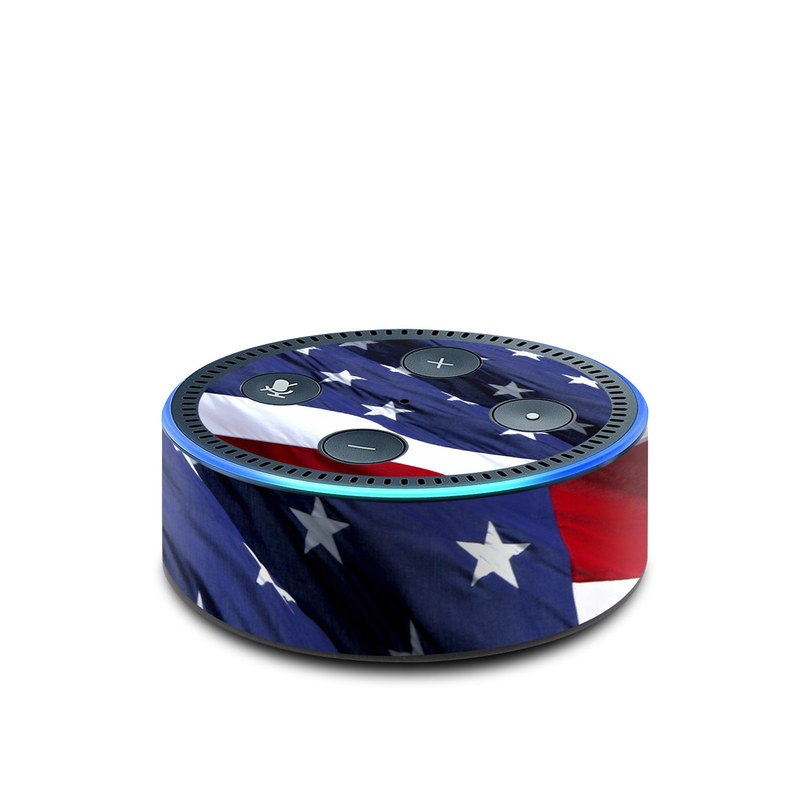 Patriotic Amazon Echo Dot 2nd Gen Skin