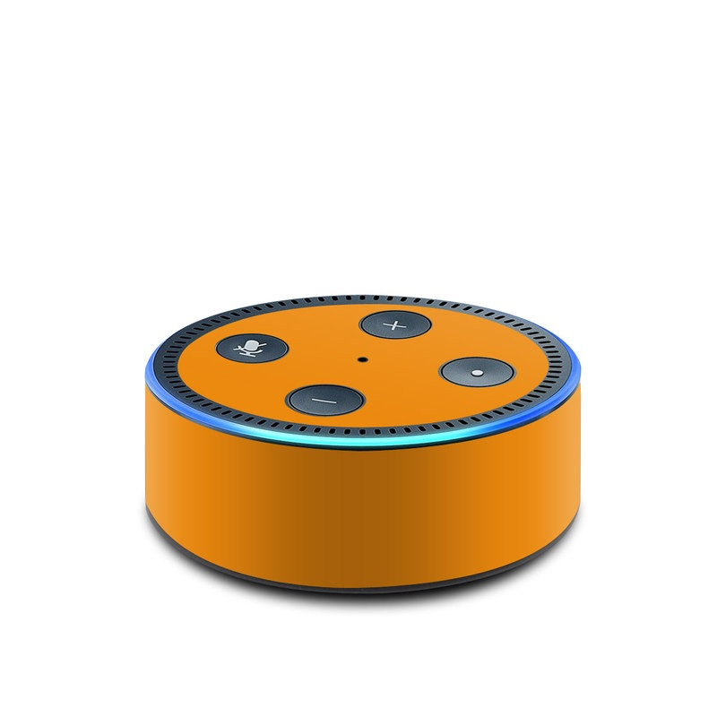Solid State Orange Amazon Echo Dot 2nd Gen Skin