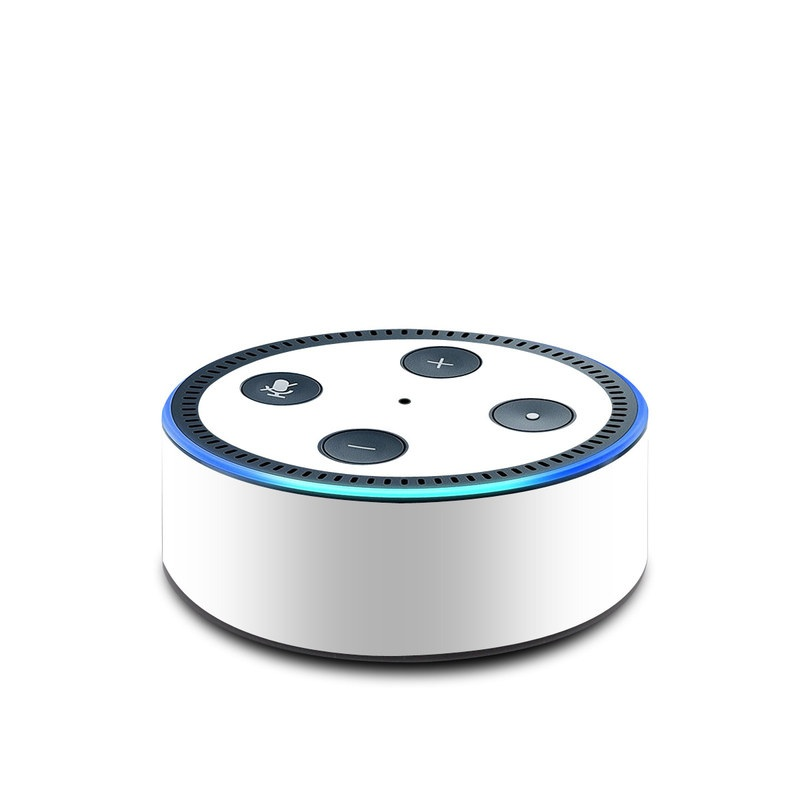 Solid State White Amazon Echo Dot 2nd Gen Skin