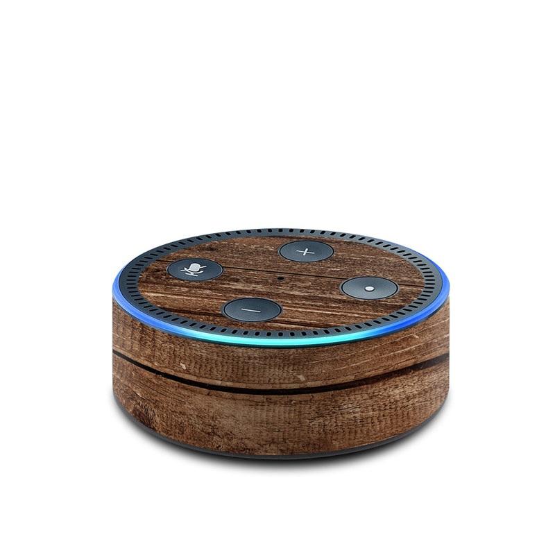 Stripped Wood Amazon Echo Dot 2nd Gen Skin
