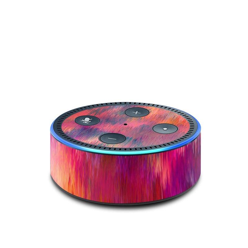 Amazon Echo Dot 2nd Gen Skin design of Sky, Purple, Pink, Blue, Violet, Painting, Watercolor paint, Lavender, Cloud, Art with red, blue, purple, orange, green colors