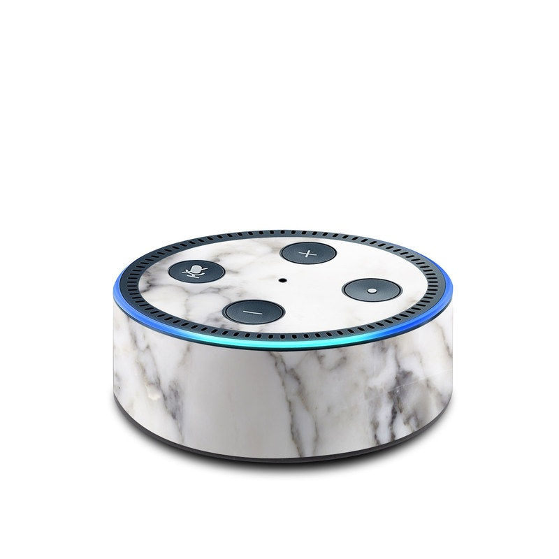 Amazon Echo Dot 2nd Gen Skin design of White, Geological phenomenon, Marble, Black-and-white, Freezing with white, black, gray colors
