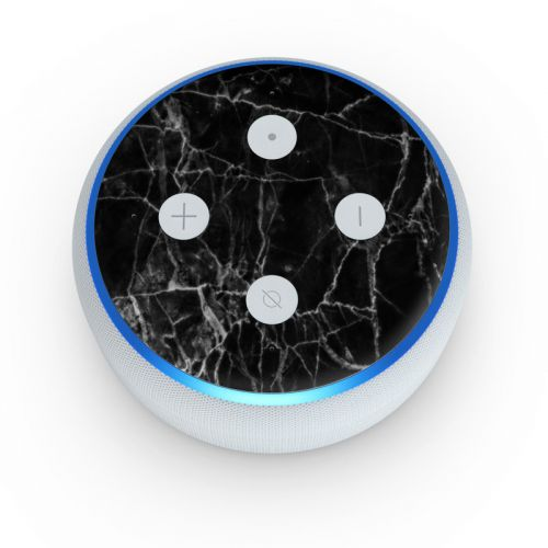 Black Marble Amazon Echo Dot 3rd Gen Skin