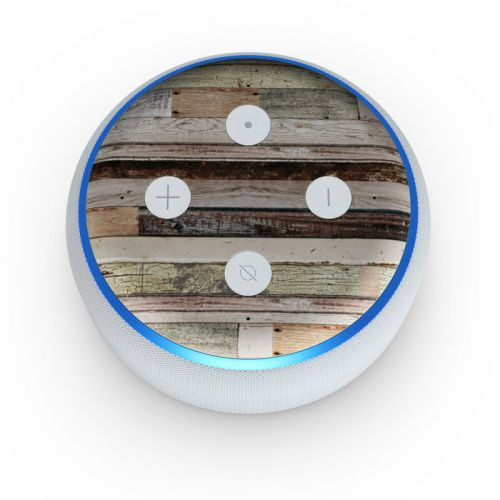 Eclectic Wood Amazon Echo Dot 3rd Gen Skin