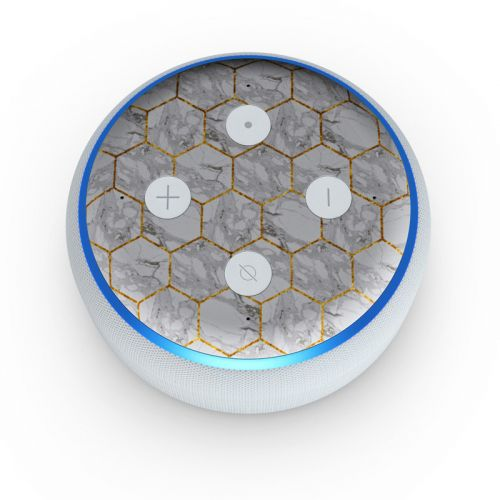 Honey Marble Amazon Echo Dot 3rd Gen Skin