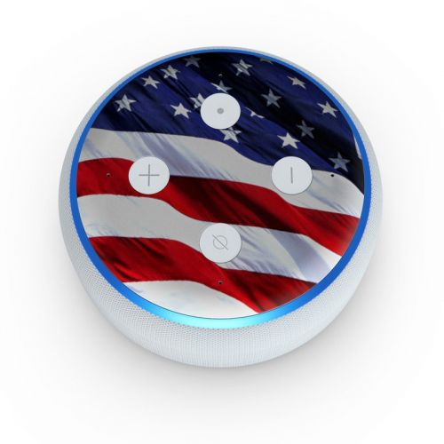 Patriotic Amazon Echo Dot 3rd Gen Skin