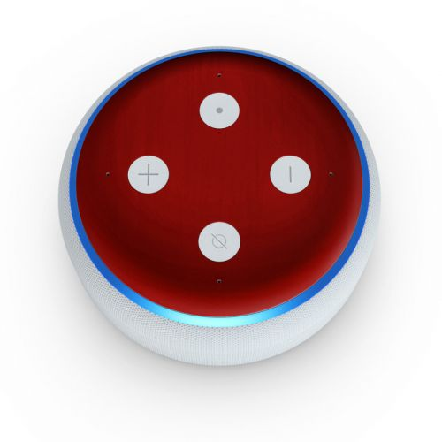 Red Burst Amazon Echo Dot 3rd Gen Skin