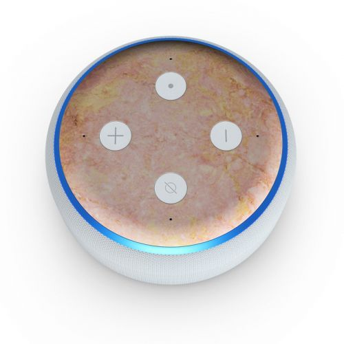 Rose Gold Marble Amazon Echo Dot 3rd Gen Skin