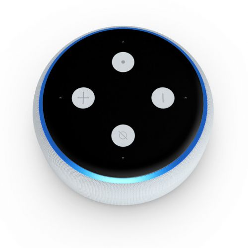 Solid State Black Amazon Echo Dot 3rd Gen Skin