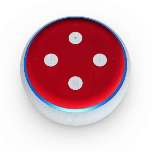 Solid State Red Amazon Echo Dot 3rd Gen Skin