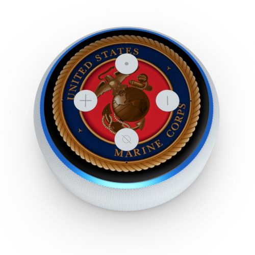 USMC Black Amazon Echo Dot 3rd Gen Skin