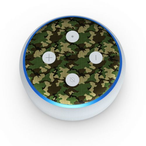 Woodland Camo Amazon Echo Dot 3rd Gen Skin