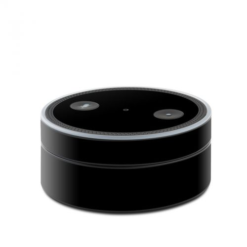 Solid State Black Amazon Echo Dot Skin