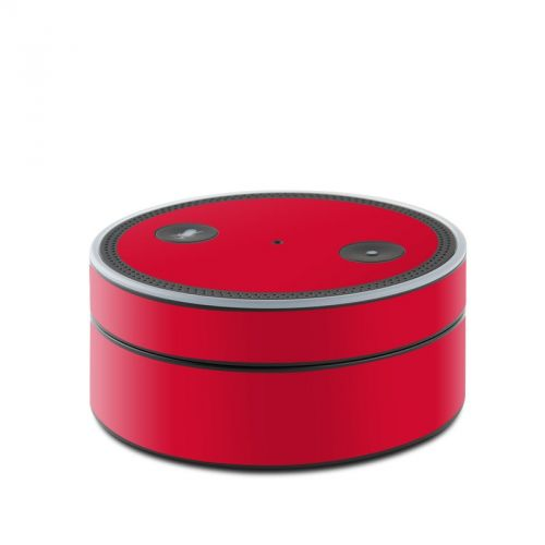 Solid State Red Amazon Echo Dot Skin