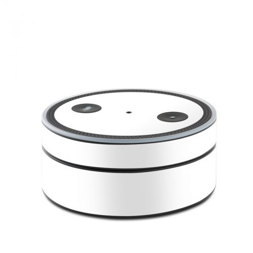 Solid State White Amazon Echo Dot Skin