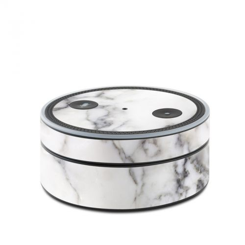 White Marble Amazon Echo Dot 1st Gen Skin